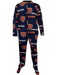 Chicago Bears Guys Super Soft Fleece One Piece Footie Pajama for men