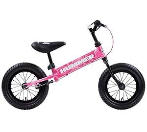 HUMMER(ハマー) TRAINEE BIKE カモフラージュピンク 12.5インチ 幼児/子供用トレーニングキックバイク 【専用スタンド付き】 安定のある極太タイヤ搭載 後輪ブレーキ付 13028-0499