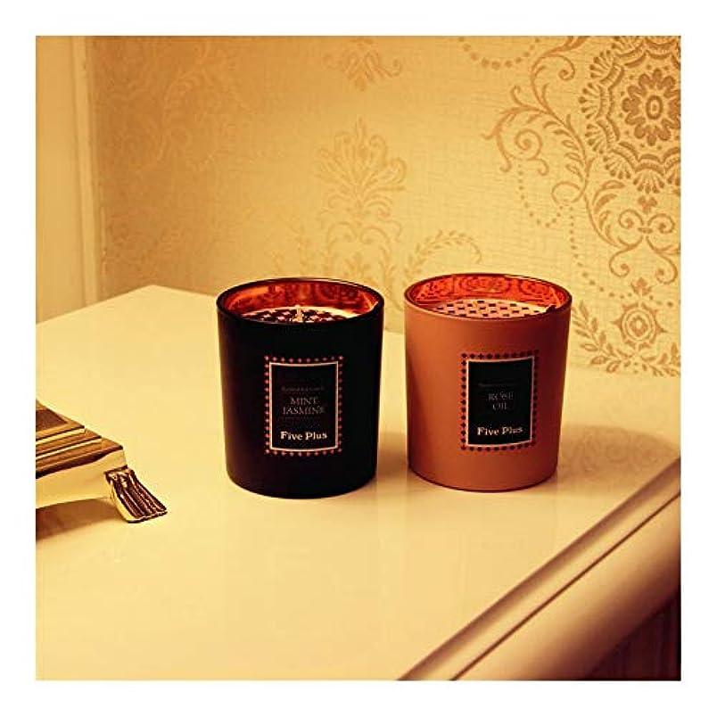 なだめるプレゼンター凝縮するACAO キャンドルのガラス充填ワックスクリエイティブな雰囲気の設定の赤黒セット