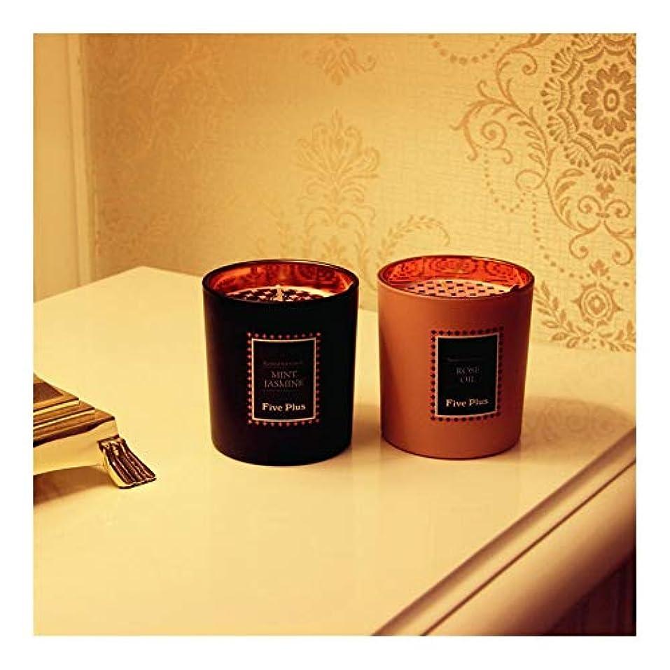 主張するお手伝いさん調子Ztian キャンドルのガラス充填ワックスクリエイティブな雰囲気の設定の赤黒セット