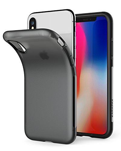 【iPhone X用】Anker KARAPAX Touch 保護ケース マット仕上げ・TPU素材・黄ばみ防止・指紋防止・iPhone X 対応 【ワイヤレス充電対応/落下防止/衝撃吸収】(ブラック)