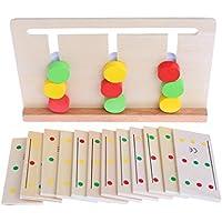 yuuups 木製 モンテッソーリ 感覚素材 色分けゲーム 教育玩具 子供用 組み立てエンジニアリング 男の子 女の子 対象年齢 3 4 5 歳以上 クリエイティブな楽しいキット Cのギフトに最適
