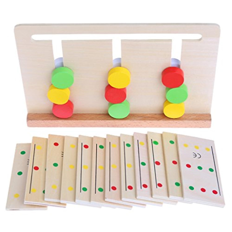 bettal木製SensorialマテリアルカラーSorting Game Educational Toy for Kid