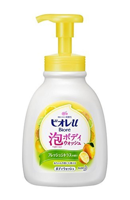 恨みトランクミネラル花王 ビオレu 泡で出てくるボディウォッシュ フレッシュシトラスの香り ポンプ 600ml × 4個セット