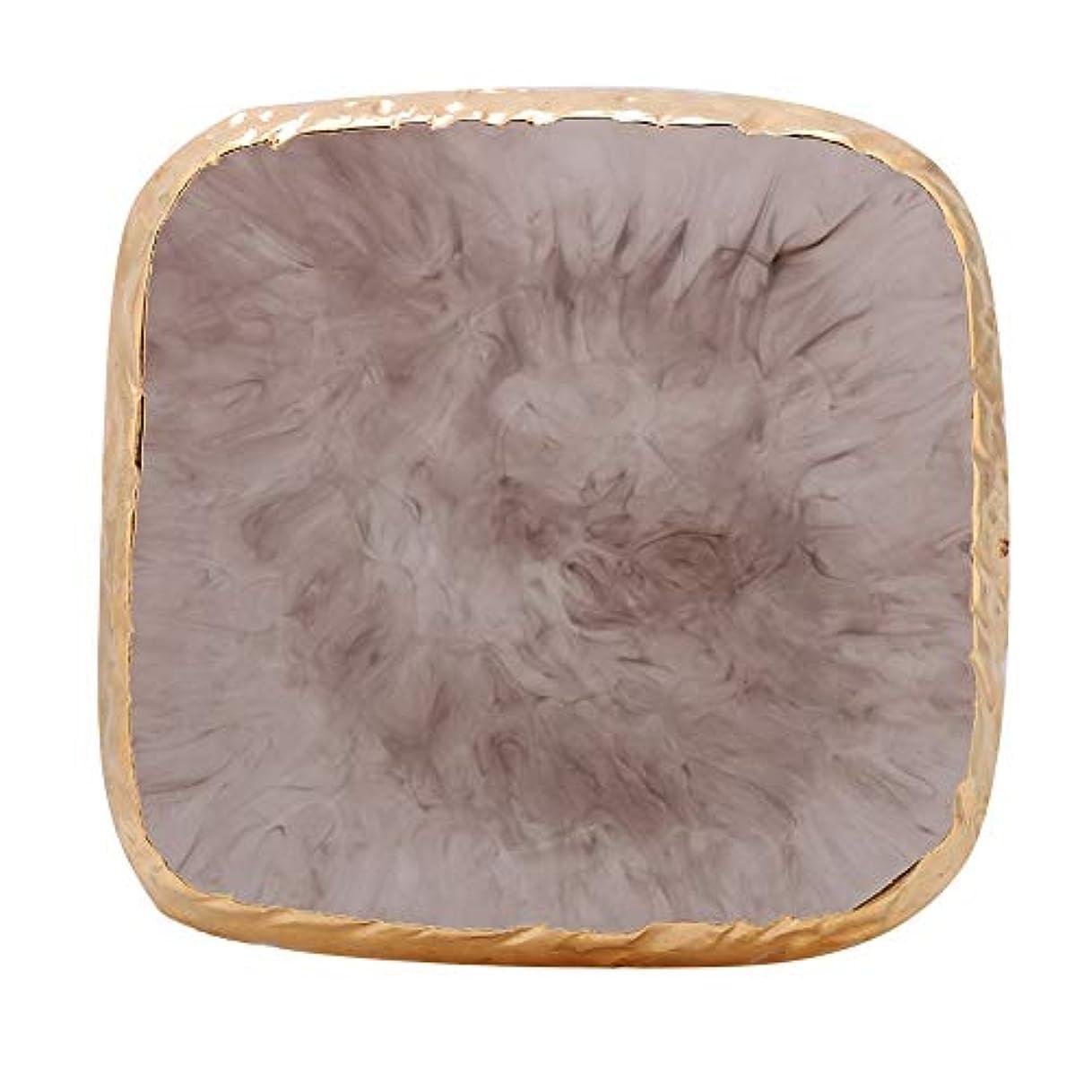 ビーズ最大の八百屋ネイルアートディスプレイスタンド 樹脂 ネイルアートジェル ディスプレイホルダー ネイルアートツール サロン アクセサリー ネイルポリッシュカラー (グレー)