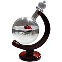【LeRight】 地球儀ストームグラス テンポドロップ 天気予報器 結晶観察器 天気予報グラスボトル 地球儀 インテリア オブジェ 室内装飾 母の日 バレンタイン 結婚記念日 プレゼント