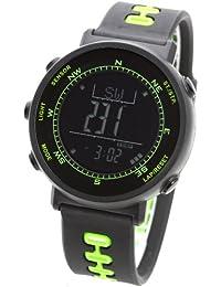 [ラドウェザー]腕時計 スイス製センサー搭載 デジタル コンパス 高度計 気圧計 温度計 天気予報機能 ペースメーカー
