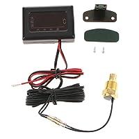 Perfk 水温計センサー 温度計 自動車用  デジタル水温計 12V-24V デジタル表示 3サイズ - 17mm