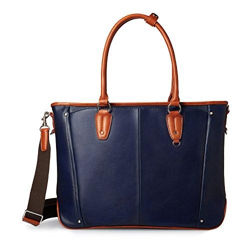GLEVIO(グレヴィオ) 一流の鞄職人が作る ビジネスバッグ メンズ B4 ネイビー×キャメル