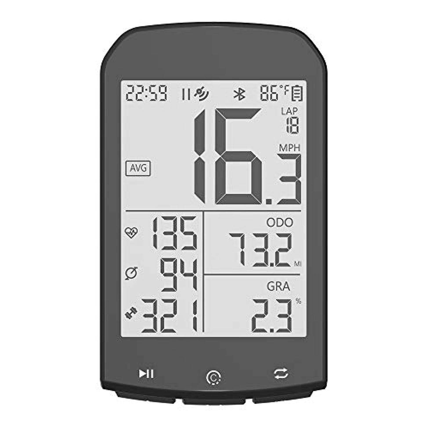 炭素目的大破自転車スピードメーター 防水自転車GPS無線ストップウォッチ夜光防水Bluetoothのストップウォッチ 記録走行データ (色 : M1, Size : One size)