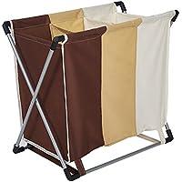 Karmas製品3-bag 3-color折りたたみランドリーバスケット洗濯オーガナイザー洗濯服バスケットストレージ