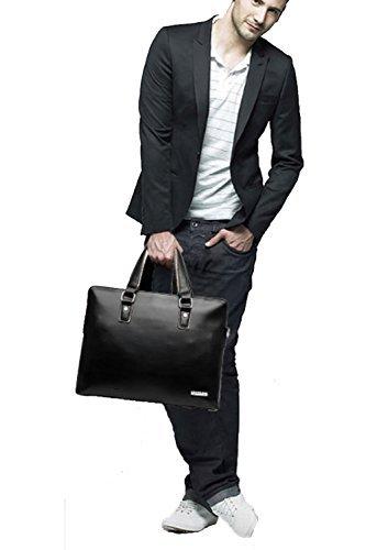 高級 本革 ビジネスバッグ 2色 ブリーフケース バッグ バック メンズ レディース レザー 皮 通勤 通学 軽量 丈夫 ブラック