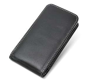 ミヤビックス PDAIR レザーケース for HTC J ISW13HT ベルトクリップ付バーティカルポーチタイプ(ブラック) PALCISW13HTBV/BL
