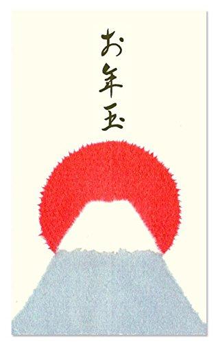 お年玉袋 和紙ぽち袋 ちぎり絵 お年玉 富士山 100枚入 大容量パック