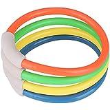 4PCS 潜水用リング ダイビングリング ダイビングおもちゃ 水中玩具 入浴玩具 キッズ玩具 スイミングトイ 高品質 プラスチック製 高耐久性 水泳