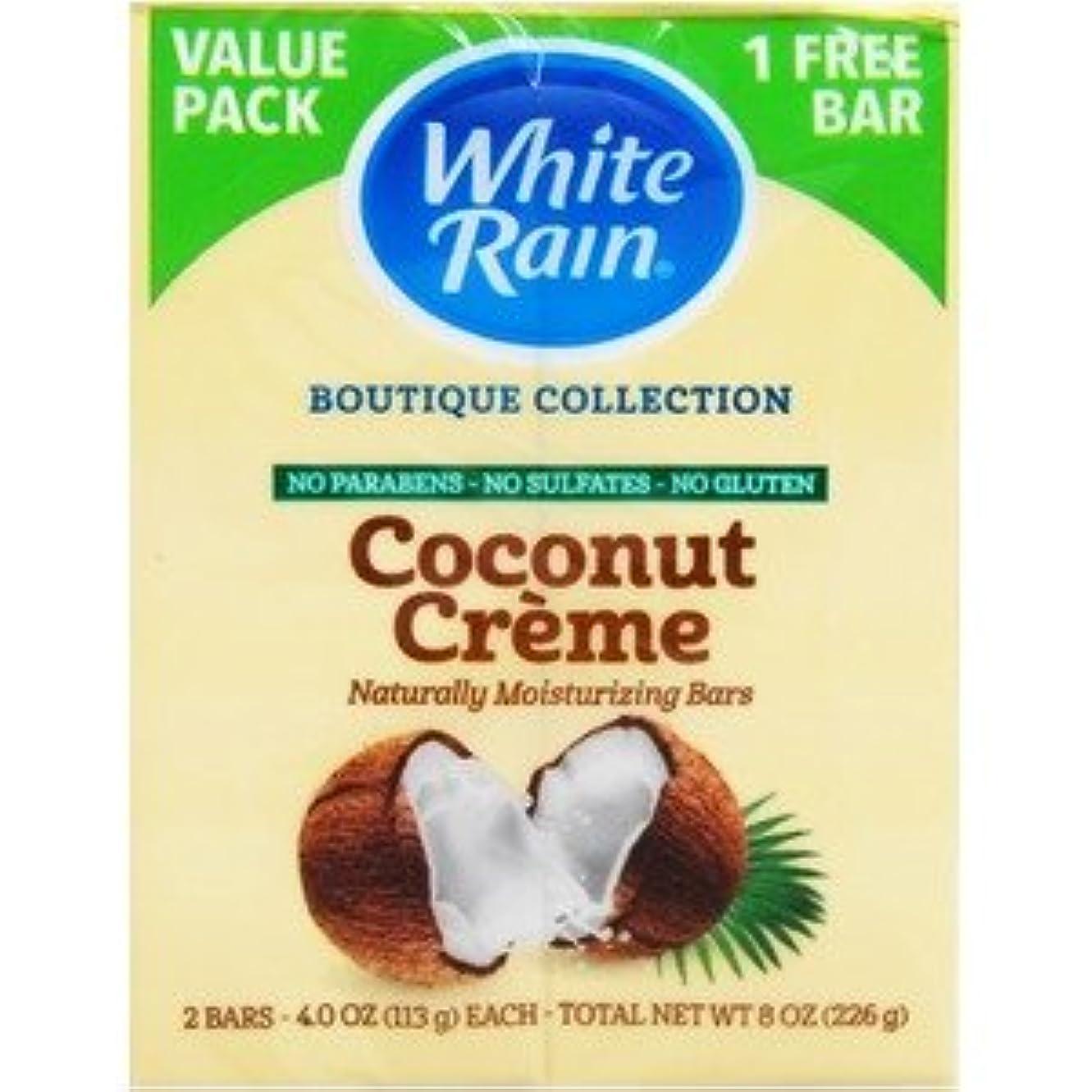 フライカイト抑制誤解させるホワイトレインバーソープ ココナッツクリーム×【12個セット】
