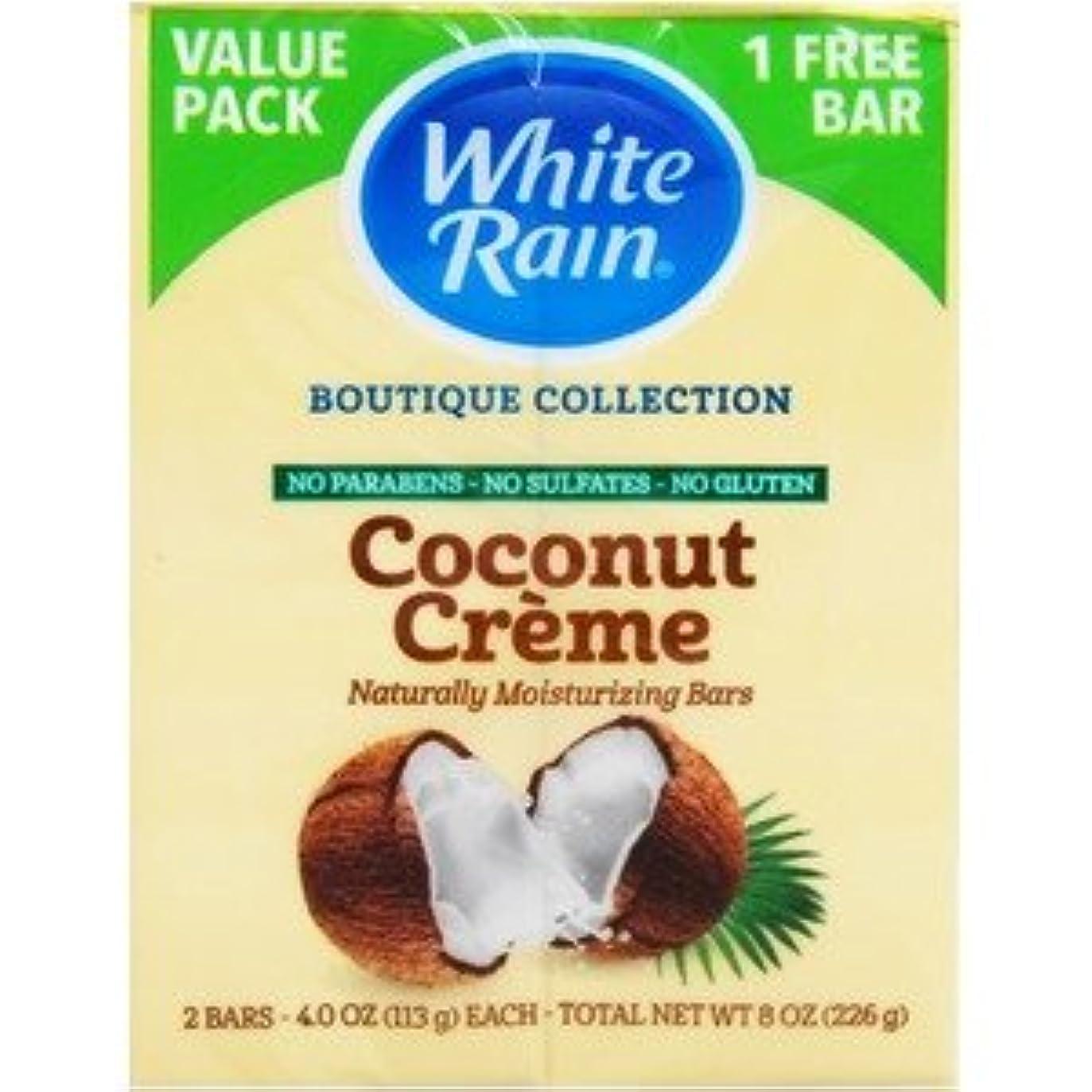 忌まわしい拒否文字通りホワイトレインバーソープ ココナッツクリーム×【12個セット】
