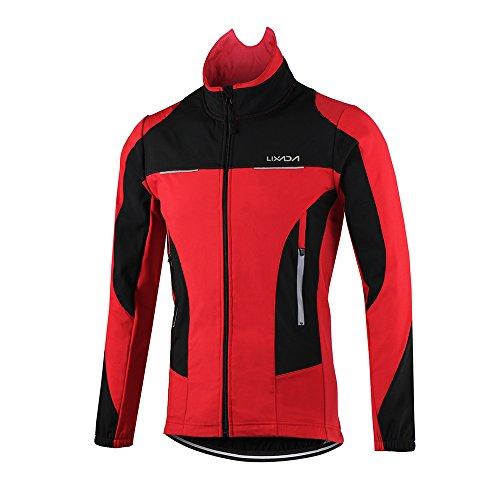 Lixada 冬用 サイクルジャージ ジャケット パンツ 上下セット 4タイプ 長袖 防風 防寒 裏起毛 3Dパッド 反射ストリップ付き ウィンドブレーカー 自転車ウェアセット