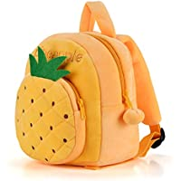 Gloveleya Fruit Series Plush Kid's Backpack Shoulder Bag School for Kids Children 12'' (Red strawberry)