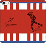 iPhone/Xperia/Galaxy/他機種選択可:サッカー/グラフィティ手帳ケース(デザイン:アトレティコ/10番_01) 09 iPhone X
