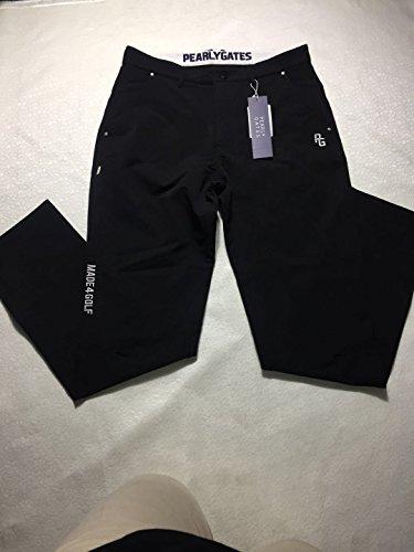 夏物305-2ブルーパーリーゲイツ/ボトムス男性用/ゴルフメンズパンツ (XL, ブラック)