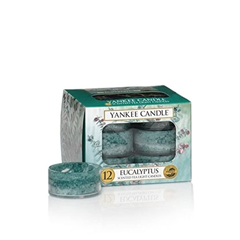 有名な不適当状Yankee Candleユーカリ、新鮮な香り Scented Tea Lights グリーン 1185974