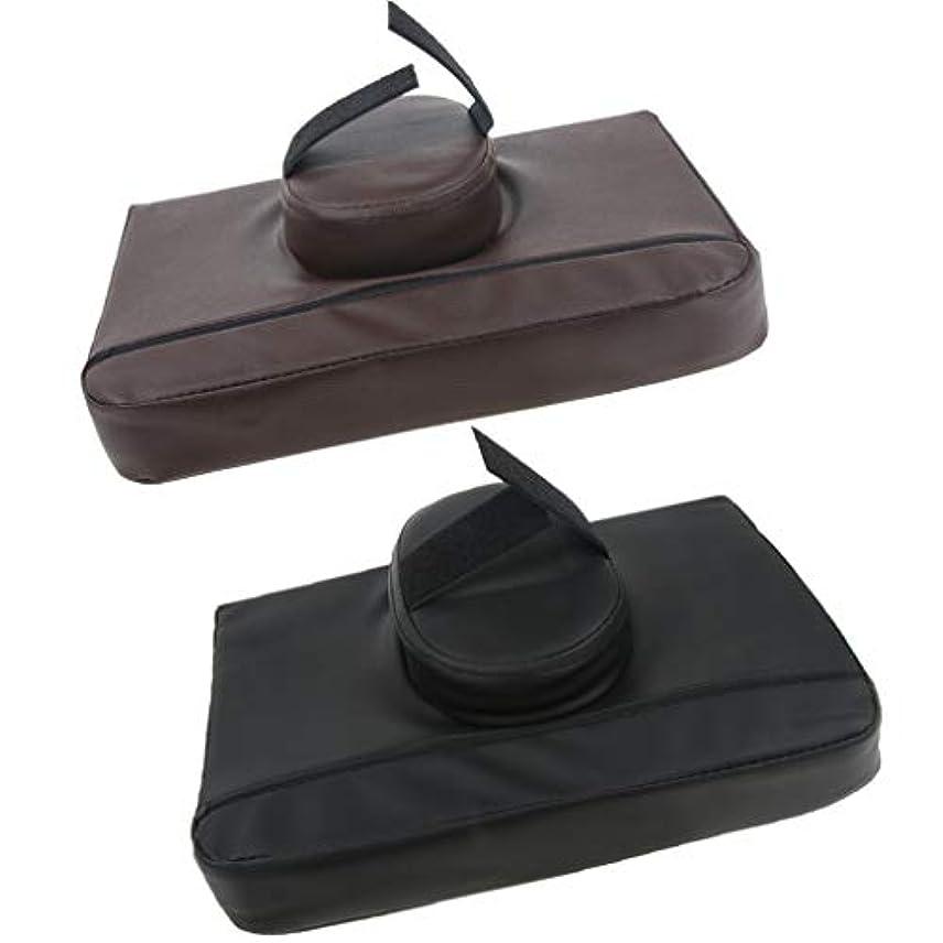 蘇生するノーブル部分的に2個 マッサージ枕 マッサージピロー スクエア マッサージテーブル用 通気性 快適 プレゼント