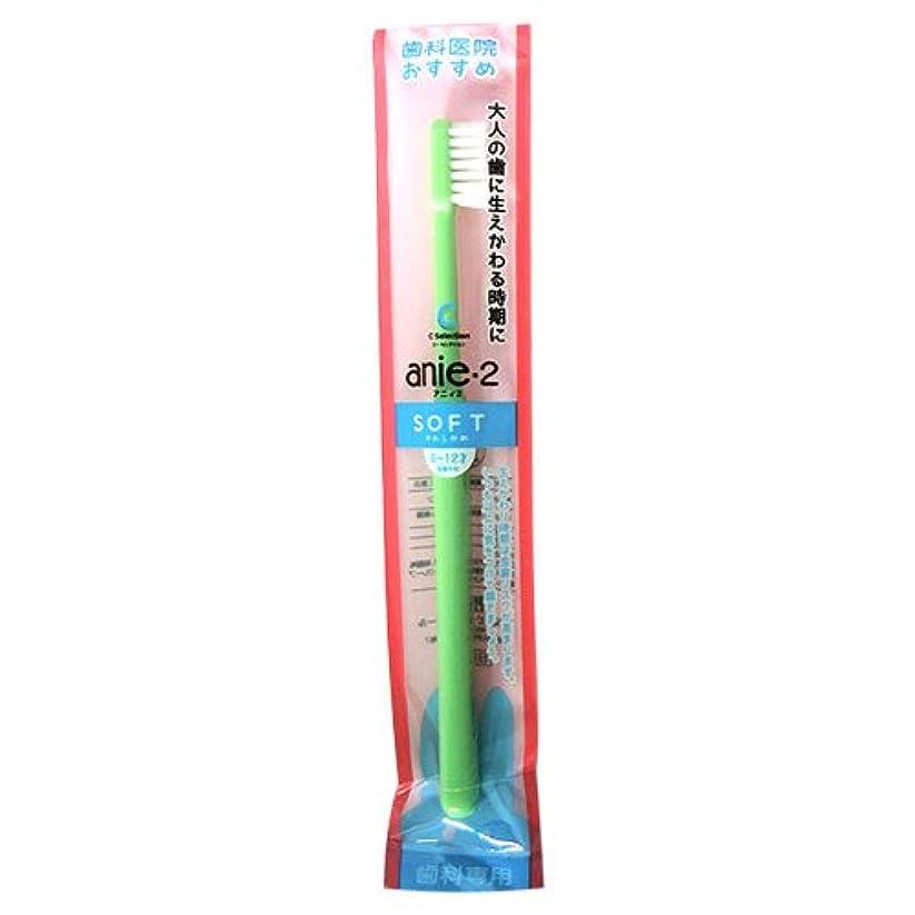 毒性栄養タイマーP.D.R.(ピーディーアール)C?Selection アニィ2 歯ブラシ【キャップなし】1本 グリーン