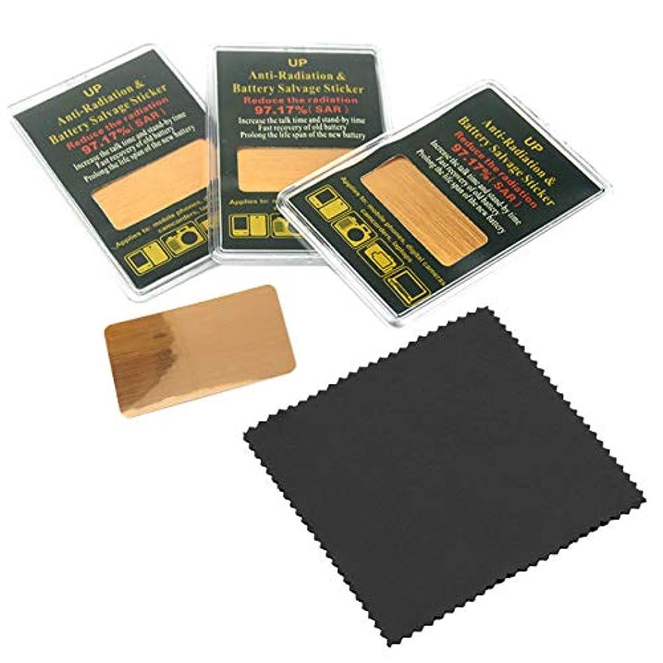 コンバーチブルプラス適格nullie 電磁波カットシール 電磁波防止シート クロス付属 電磁波対策 シール 4枚セット