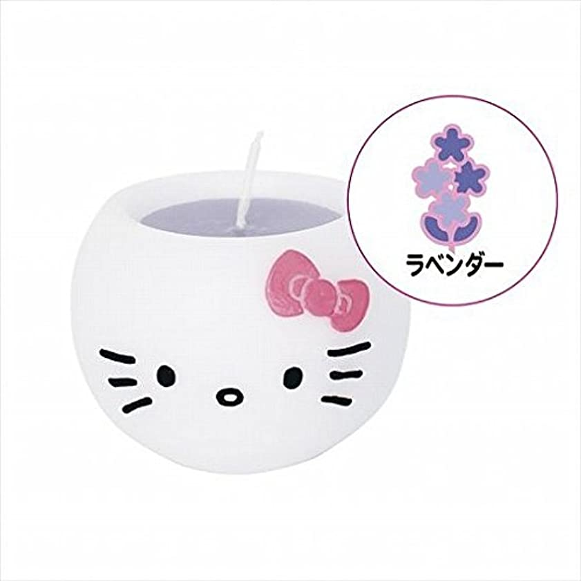レジ保存雷雨kameyama candle(カメヤマキャンドル) ハローキティアロマキャンドル 「 ラベンダー 」 キャンドル 58x58x45mm (A6980520)