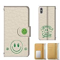 全機種 手帳型 AQUOS ZETA (SH-01G) 手帳カードタイプ すまいる ニコちゃん スマイル エンジョイ smile スマホケース 携帯カバー スマホカバー[mobile88] t375