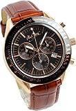 アランディベール]腕時計 スイス クロノグラフ ダイヤモンド イタリア革ベルト メンズ 時計 Alain Divert