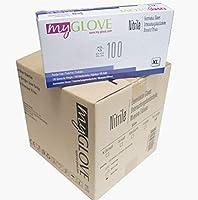 使い捨てニトリル手袋10x100アイテムボックス、ニトリルブルー、使い捨て検査手袋パウダーフリーラテックスフリー非滅菌使い捨て手袋、XL(1000)