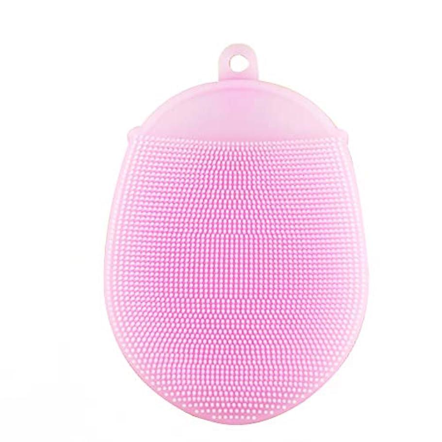 吸い込むアイザックリア王Healifty ボディブラシ2本シリコン入浴ブラシ抗菌シャワースクラバー洗顔パッド(ピンク)