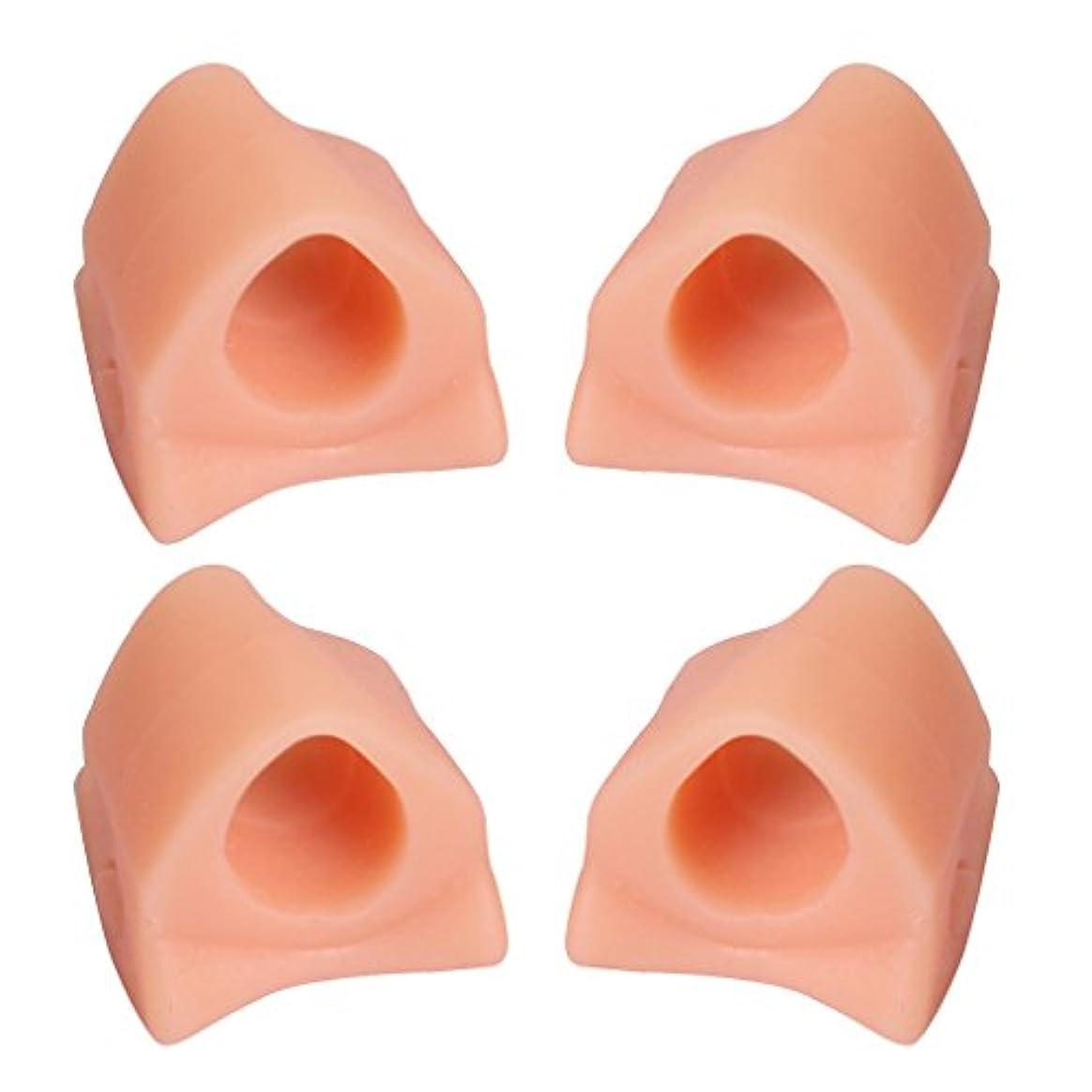 バーガー透けて見える糞4本ゲル腱膜補正つま先セパレーター補正Hallux外反フットケア