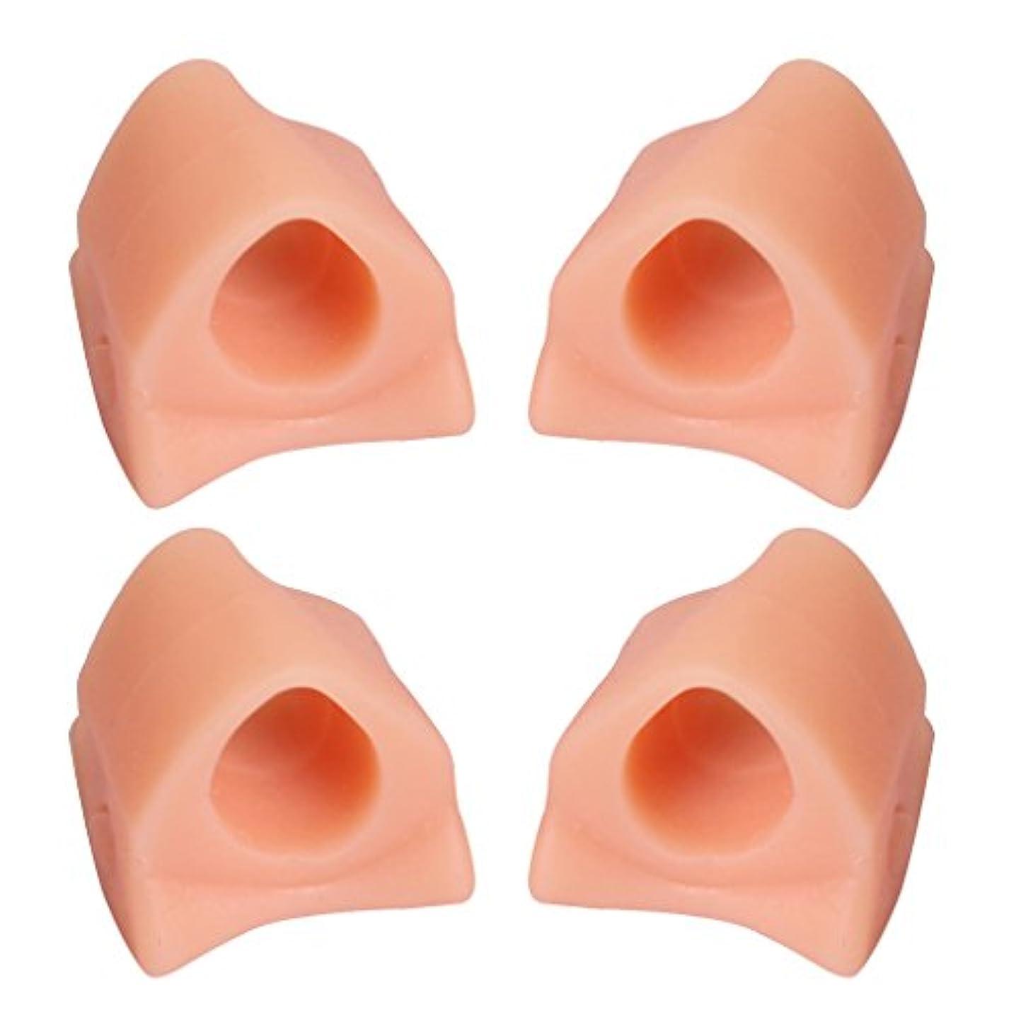 病者すべて満足Hellery 4本ゲル腱膜補正つま先セパレーター補正Hallux外反フットケア