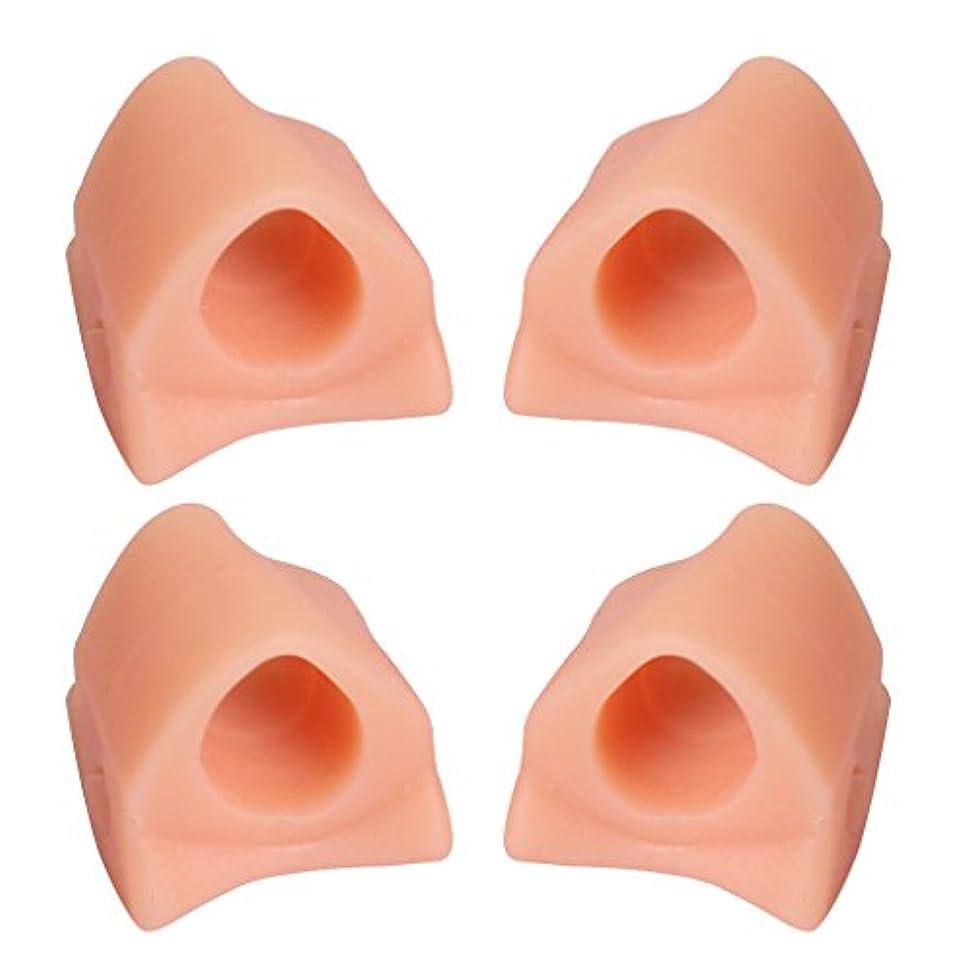 ズボン野心的変数4本ゲル腱膜補正つま先セパレーター補正Hallux外反フットケア
