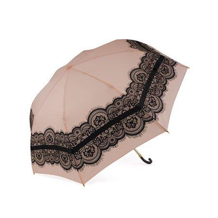 pink trick 折り畳み 傘 レースフラワー柄