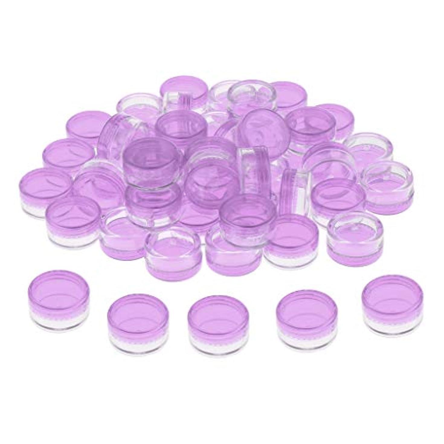 分類珍味永続化粧品ボトル クリームケース ジャーポット 小分け 5G 詰め替え容器 化粧瓶 収納ケース 約50個 - クリア