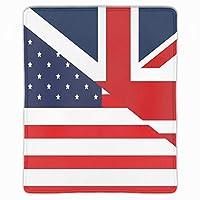 マウスパッド レーザー&光学マウス対応 防水/洗える/滑り止め イギリスとアメリカの国旗 サイズ:25 x 30 x 0.3 cm