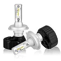【2019年最新 業界初モデル】BORDAN H4 Hi/Lo LED ヘッドライト 車検対応 Lumileds LUXEON ZES CHIP(第2世代) 採用 10000Lm 6500k ファンレス 一体型 角度調整機能付き 三年保証