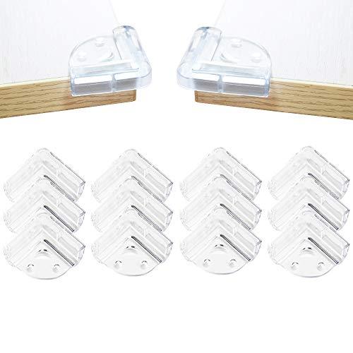 コーナークッション コーナー ガード透明で柔らかい12個セット 赤ちゃん 子供 年配の方ケガ防止 戸棚 家具の角を保護 3M両面テープ貼り付き 保育園 安全対策 笑顔型