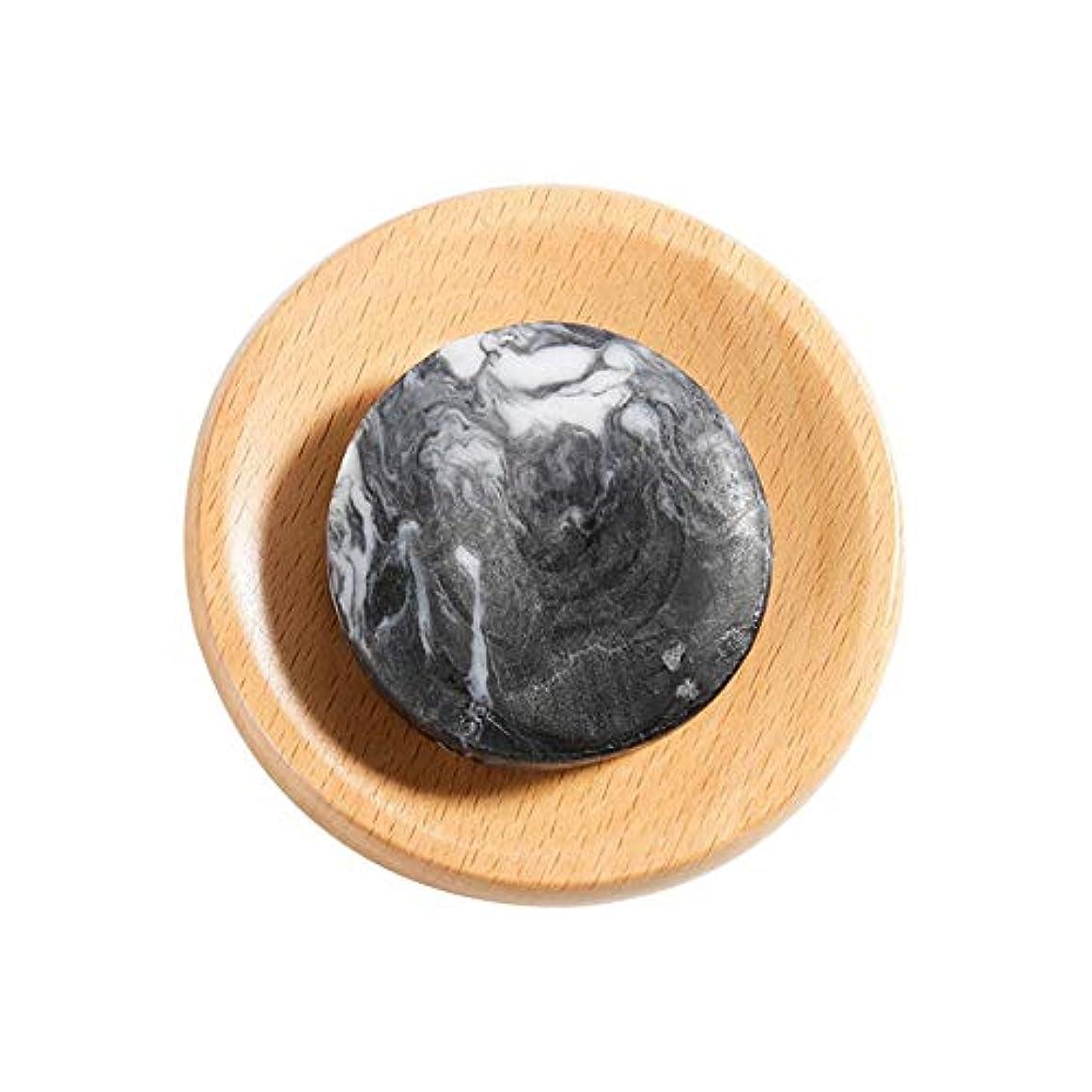 レベル矩形再生的火山泥 石鹸 美白 ボディクリア 抗菌 スキンケア 腹ステッカー5枚付き hjuns-Wu
