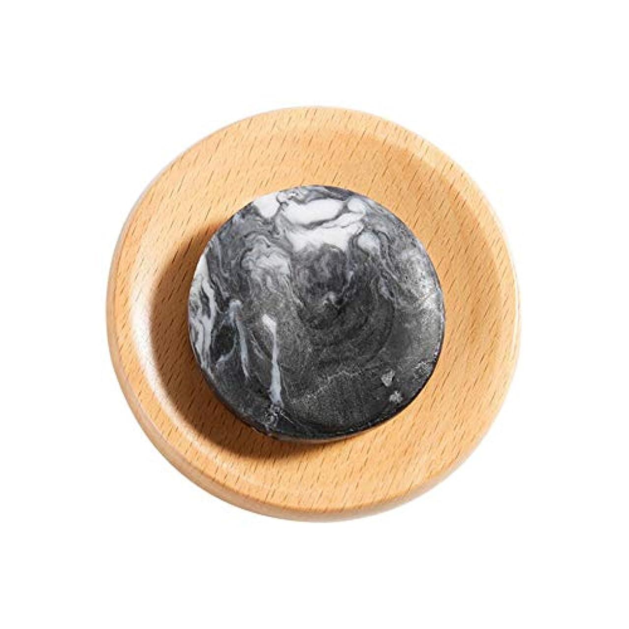 タイプ入手します存在火山泥 石鹸 美白 ボディクリア 抗菌 スキンケア 腹ステッカー5枚付き hjuns-Wu