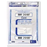 PM Company 58051 - Triple Protection Tamper-Evident Deposit Bags, 20 x 24, Clear, 50/Pack-PMC58051 by PM Company????