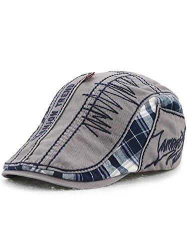 (ムコ) MUCO レディース メンズ 男女兼用 キャスケット ハンチング帽 刺繍 オシャレ プレゼント 欧米風 ミックス カジュアル 調節可能 アウトドア 旅行 UVカッド(5カラー) gray