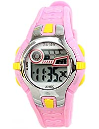 Boys Girlsアウトドアデジタルクオーツ防水Jelly Colorful Sports Watches For 7 – 15 Years Old Rose