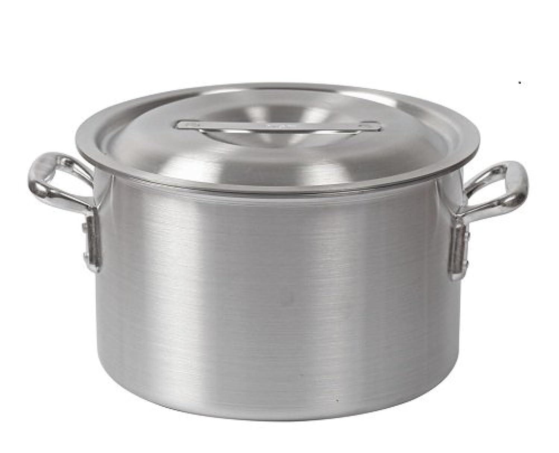 高品質 アルミ 製 半寸胴鍋 ( ずんどう なべ ) 21cm フタ有 業務用 の ガスコンロ 対応蓋付き 鍋_FH82100F