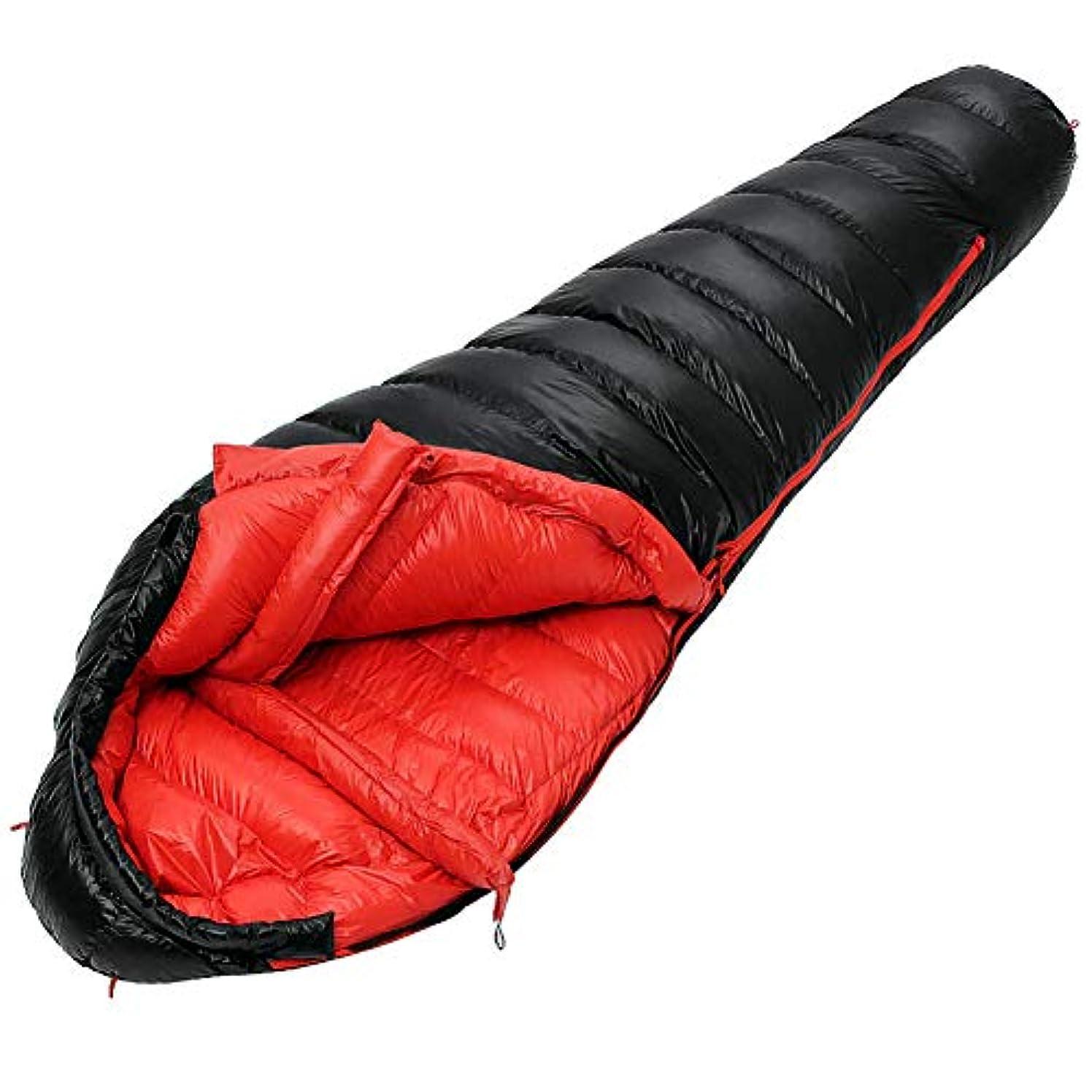意気消沈した称賛詐欺寝袋, アウトドアママ睡眠袋携帯用厚み睡眠袋屋内キャンプ大人スリーピングパッド,Black,210*80cm