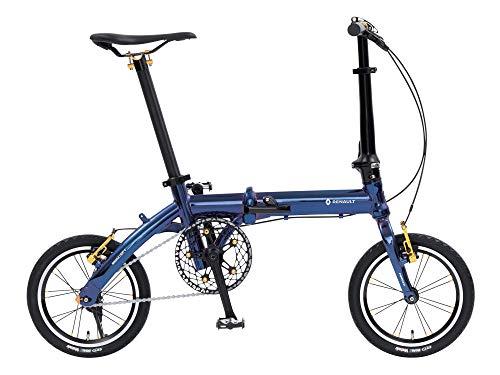 ルノー(RENAULT) 軽量・コンパクト 6.7kg 14インチ 折りたたみ自転車 MIRACLE LIGHT 6 ブルー アルミフレー...